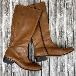 Corso Como Brown Leather Boots Size 9.5M